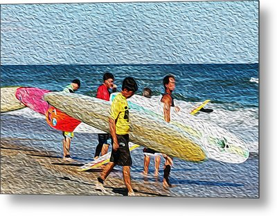 Paddle Out  Metal Print