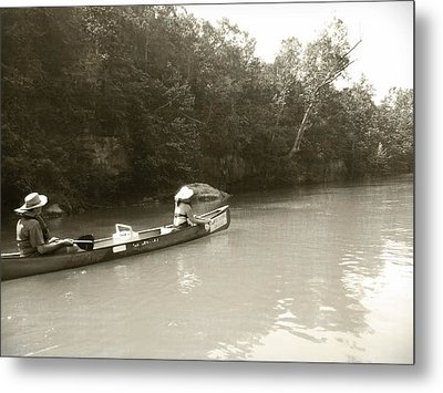 Paddling On The Current Metal Print by Marty Koch