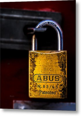 Padlock Metal Print by Bob Orsillo