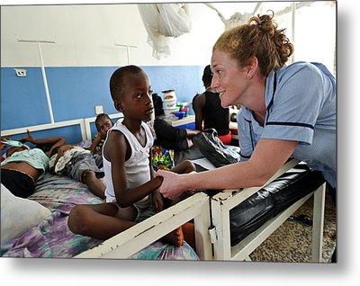 Paediatric Nursing In Sierra Leone Metal Print