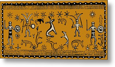 Metal Print featuring the digital art Pagan Rituals by Vagabond Folk Art - Virginia Vivier