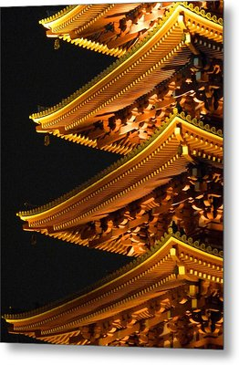 Metal Print featuring the photograph Pagoda by Julia Ivanovna Willhite