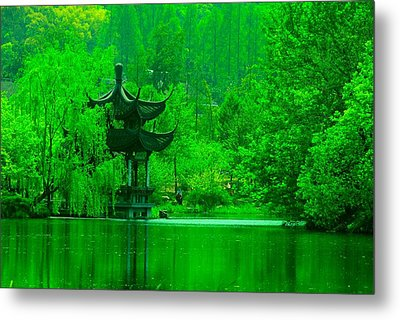 Pagoda On West Lake Metal Print by Larry Moloney