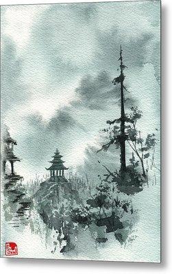 Pagoda Valley Metal Print