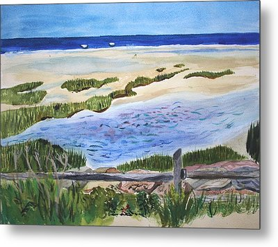 Paines Creeek Is A Wonderful Beach On Cape Cod Bay In The Town Of Brewster Ma. Metal Print by Donna Walsh