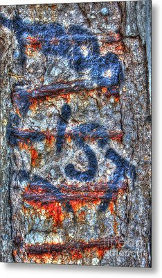 Paint And Rust 25 Metal Print by Jim Wright