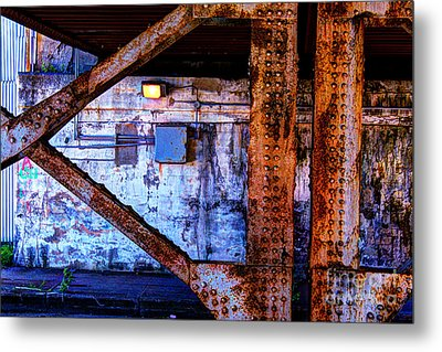 Paint And Rust 28 Metal Print by Jim Wright