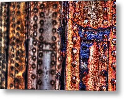 Paint And Rust 29 Metal Print by Jim Wright