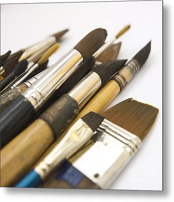 Paint Brushes Metal Print by Bernard Jaubert