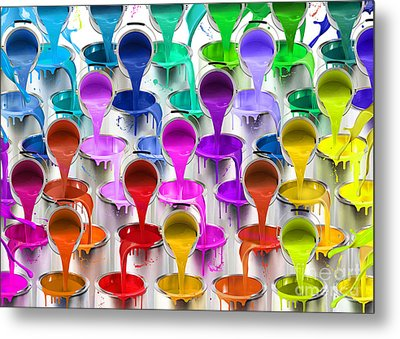 Paint Bucket Waterfall Metal Print