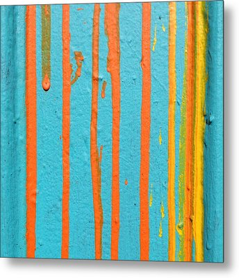 Paint Drips Metal Print by Julie Gebhardt
