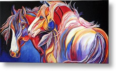 Paint Horse Colorful Spirits Metal Print by Jennifer Godshalk