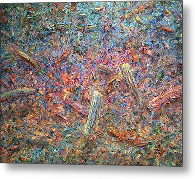 Paint Number 37 Metal Print by James W Johnson