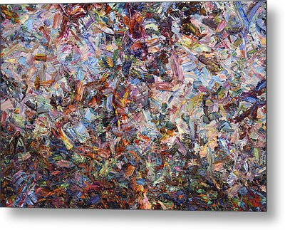 Paint Number 42 Metal Print by James W Johnson