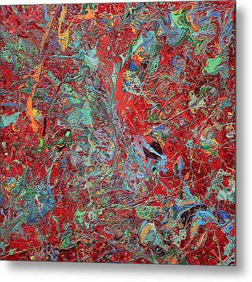 Paint Number Twenty Five Metal Print