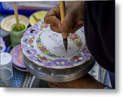 Paint On Plates Metal Print