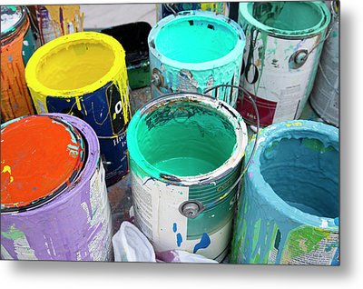 Paint Pots Metal Print by Jim West