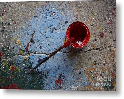 Paint The Town Red Metal Print by Nola Lee Kelsey