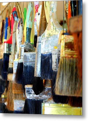 Paintbrush Collection Metal Print by Mamie Gunning