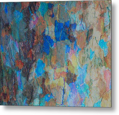 Painted Bark Metal Print by Stephanie Grant