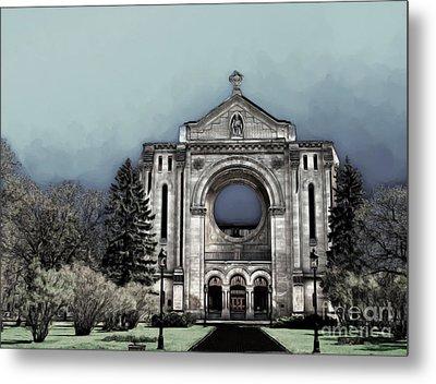 Metal Print featuring the digital art Painted Basilica 2 by Teresa Zieba