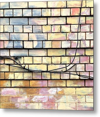 Painted Brick Metal Print by Julie Gebhardt