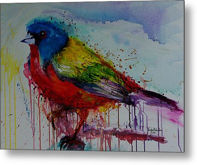 Painted Bunting Metal Print by Isabel Salvador