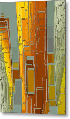 Painted City - Fantasy Cityscape Metal Print by Ben and Raisa Gertsberg