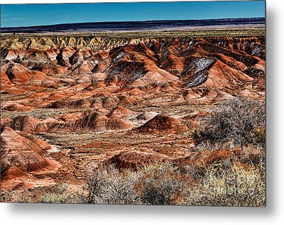Painted Desert In Winter Metal Print by Jon Burch Photography