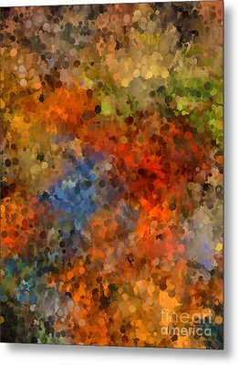 Painted Fall Abstract Metal Print
