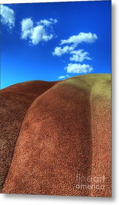 Painted Hills Blue Sky 2 Metal Print by Bob Christopher