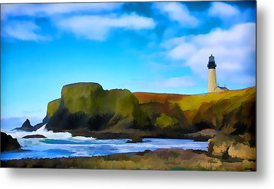 Painted Lighthouse Metal Print by Steve McKinzie