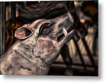Painted Pig Ride Metal Print