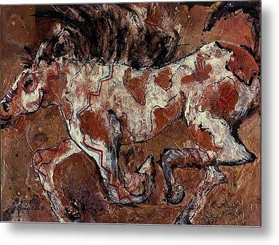 Painted Pony Metal Print by Elaine Elliott