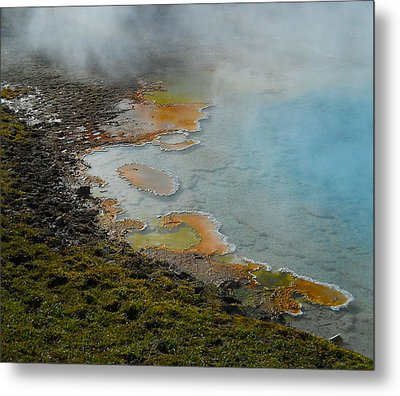 Metal Print featuring the photograph Painted Pool Of Yellowstone by Michele Myers