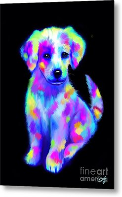 Painted Pup 2 Metal Print by Nick Gustafson
