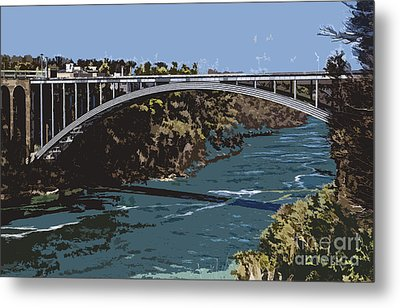 Metal Print featuring the photograph Painted Rainbow Bridge by Jim Lepard