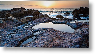 Painted Rocks At Golden Cove Metal Print by Adam Pender