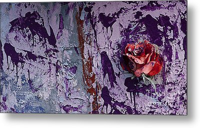 Painted Rose   #5695 Metal Print