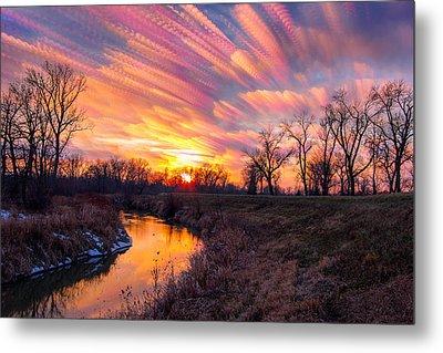 Painted Skies At Sunset Metal Print by Jackie Novak