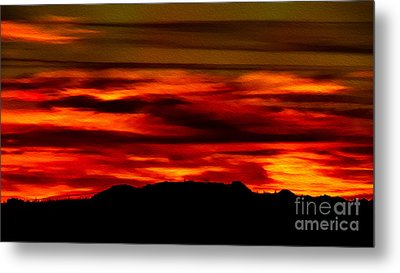 Metal Print featuring the photograph Painted Sky 34 by Mark Myhaver