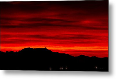 Metal Print featuring the photograph Painted Sky 36 by Mark Myhaver