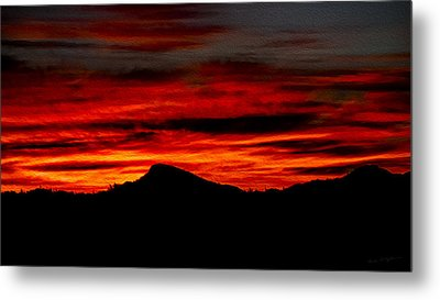 Metal Print featuring the photograph Painted Sky 45 by Mark Myhaver