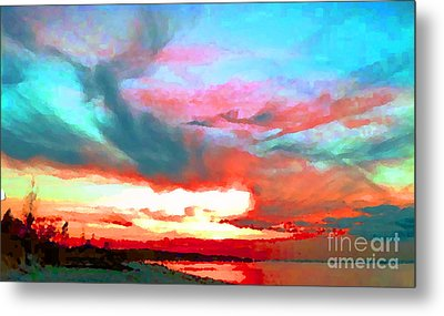 Metal Print featuring the photograph Painted Sky by Holly Martinson