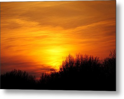 Painted Sky Metal Print by Frozen in Time Fine Art Photography