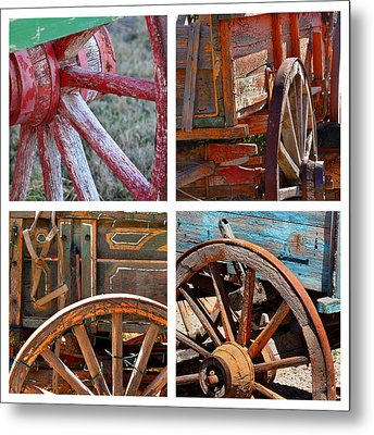Painted Wagons Metal Print by Art Block Collections