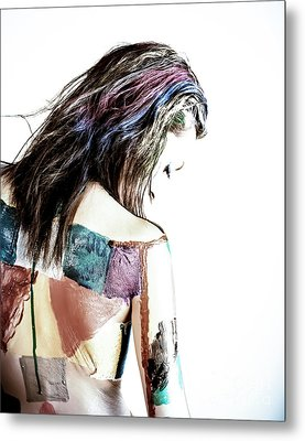 Painted Woman Metal Print by Scott Sawyer