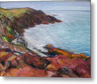 Painterly - Bold Seascape Metal Print by Quin Sweetman