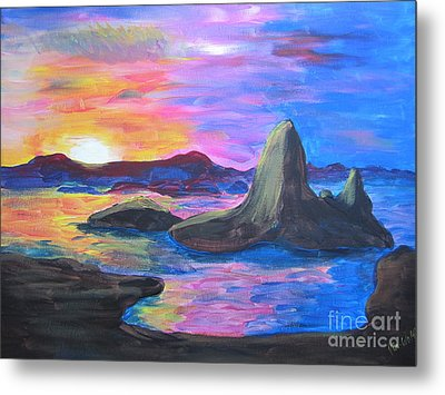 Painting     Grand Finale Metal Print by Judy Via-Wolff