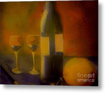 Painting And Wine Metal Print by Lisa Kaiser